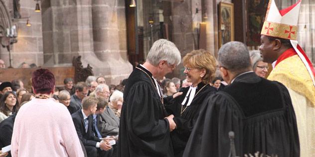 Regionalbischöfin Susanne Breit-Keßler und Heinrich Beford-Strohm