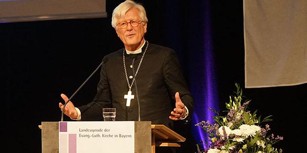 Landesbischof Heinrich Bedford-Strohm bei seinem Bericht vor der Landessynode