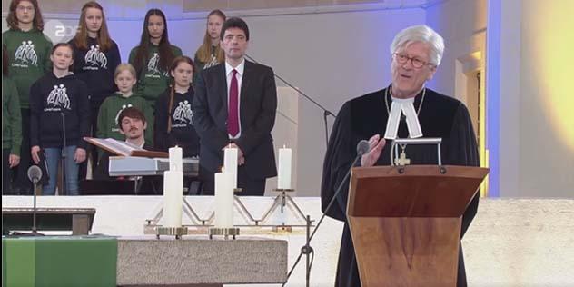 Landesbischof Heinrich Bedford-Strohm im ZDF-Gottesdienst aus der Christuskirche München